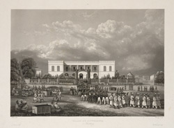 'Palais du Gouverneur a Pondichery'. Aquatint by Himely after Paris. Undated